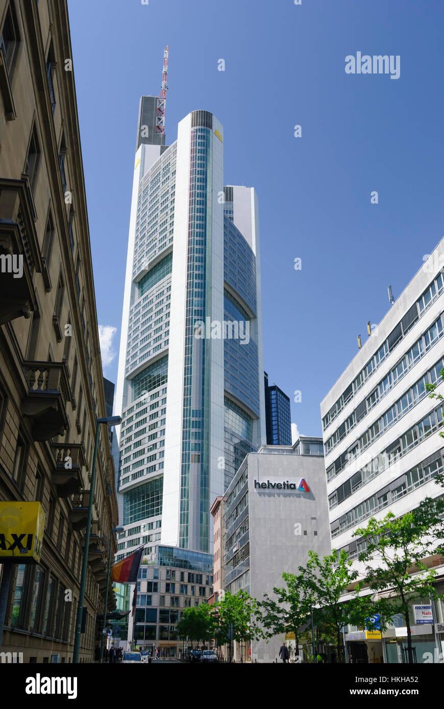 Frankfurt am Main: Commerzbank Tower, Banken, Hessen, Hesse, Germany Stock Photo