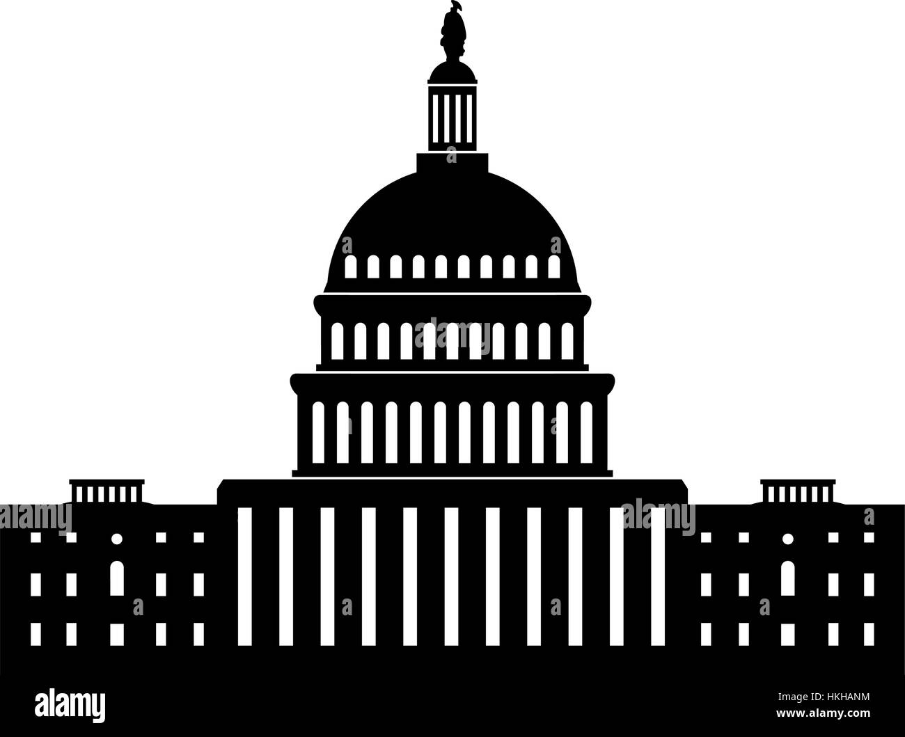 vector black and white icon of capitol building washington dc stock rh alamy com us capitol building vector washington capitol building vector