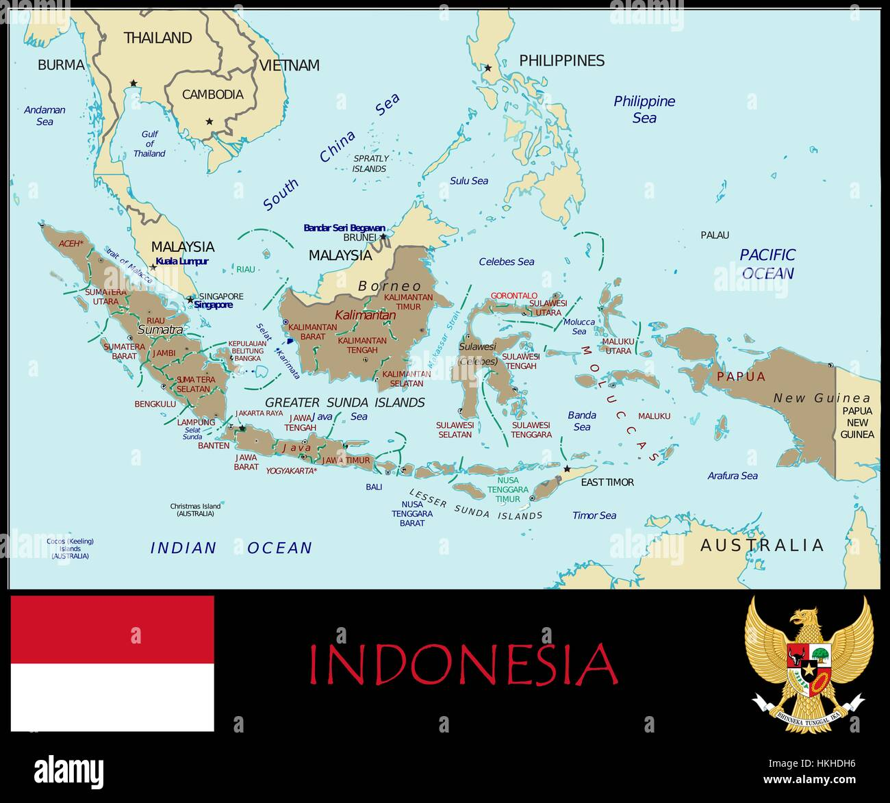 Indonesia administrative divisions Stock Photo 132534898 Alamy
