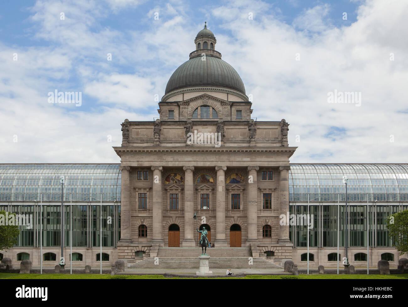 Bavarian State Chancellery (Bayerische Staatskanzlei) in Munich, Bavaria, Germany. - Stock Image