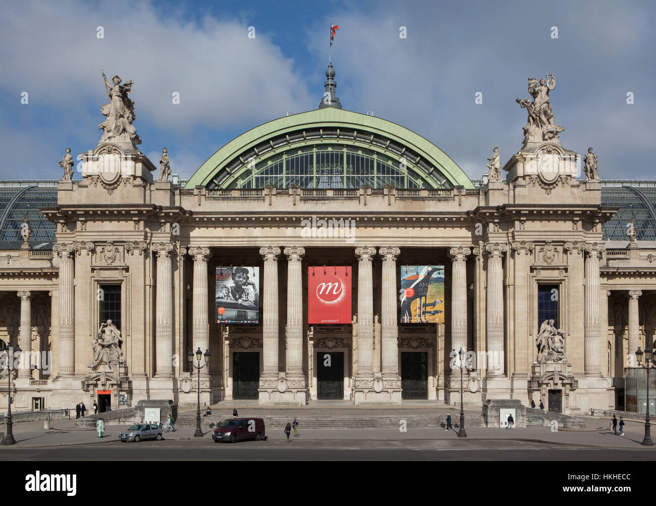 Grand Palais designed in Beaux-Arts style in Avenue des Champs-Elysees in Paris, France. Stock Photo