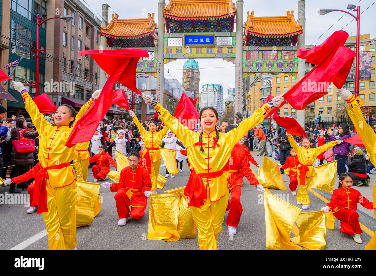 Chinese New Year Parade, Vancouver, British Columbia, Canada - Stock Image