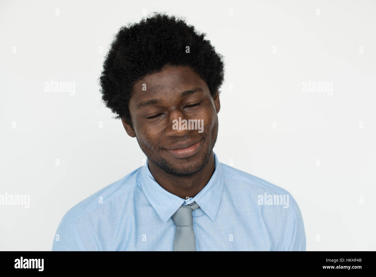 Man Cheerful Studio Portrait Concept - Stock Image