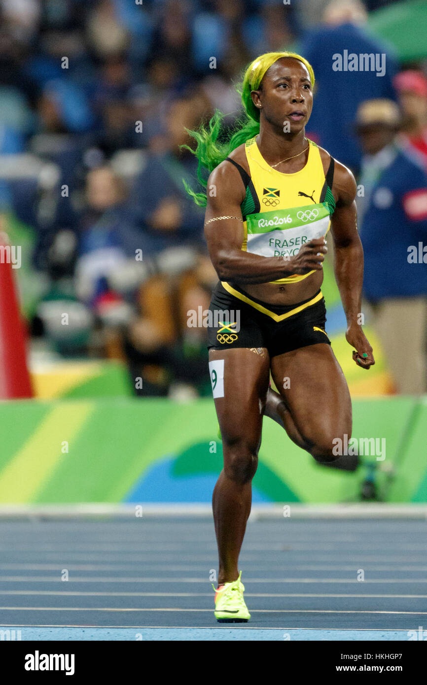 Rio de janeiro brazil 12 august 2016 athletics shelly ann stock rio de janeiro brazil 12 august 2016 athletics shelly ann fraser pryce jam competing in the womens 100m heats at the 2016 olympic summer game altavistaventures Image collections