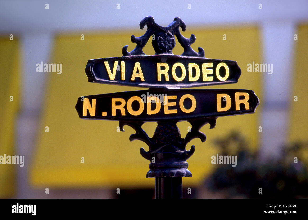 Sign on Rodeo Drive shopping district in Beverly Hills, CA Stock Photo