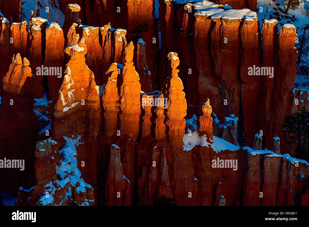 Sunrise in Bryce Canyon, abstracts - Stock Image