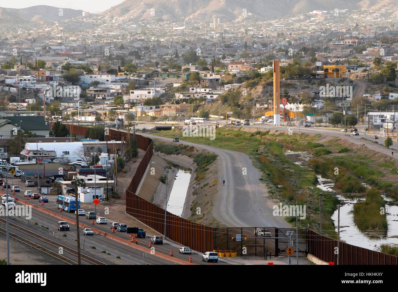 EL PASO, TX -  Colin McDonald walks inside the border fence in El Paso, Texas. SEPTEMBER 15, 2014 CREDIT: Erich Stock Photo