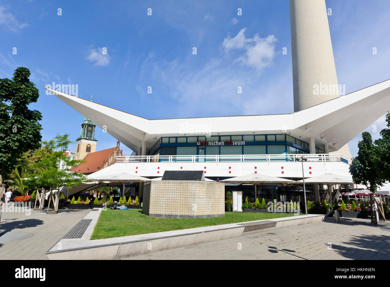 The Menschen museum near the Television Tower in Berlin, Germany. - Stock Image