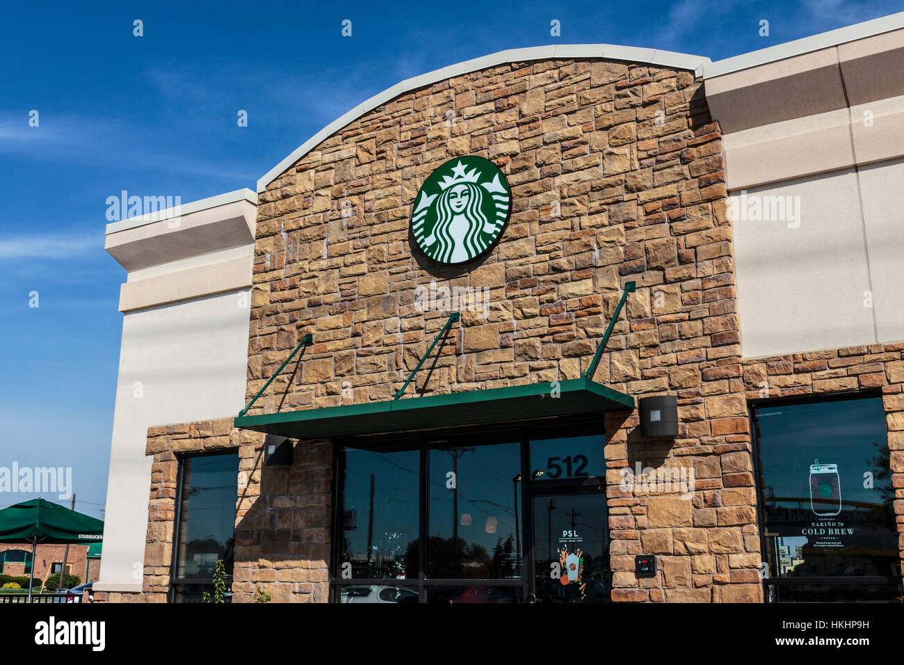 Indianapolis - Circa September 2016: Starbucks Retail Coffee Store. Starbucks is an American Retail Coffee Chain - Stock Image