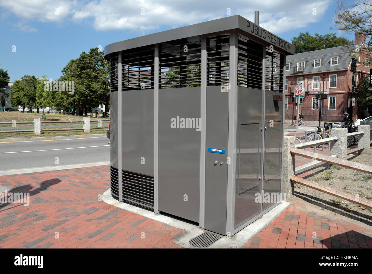 Public Toilet By The Portland Loo Cambridge Common Park In Massachusetts United States