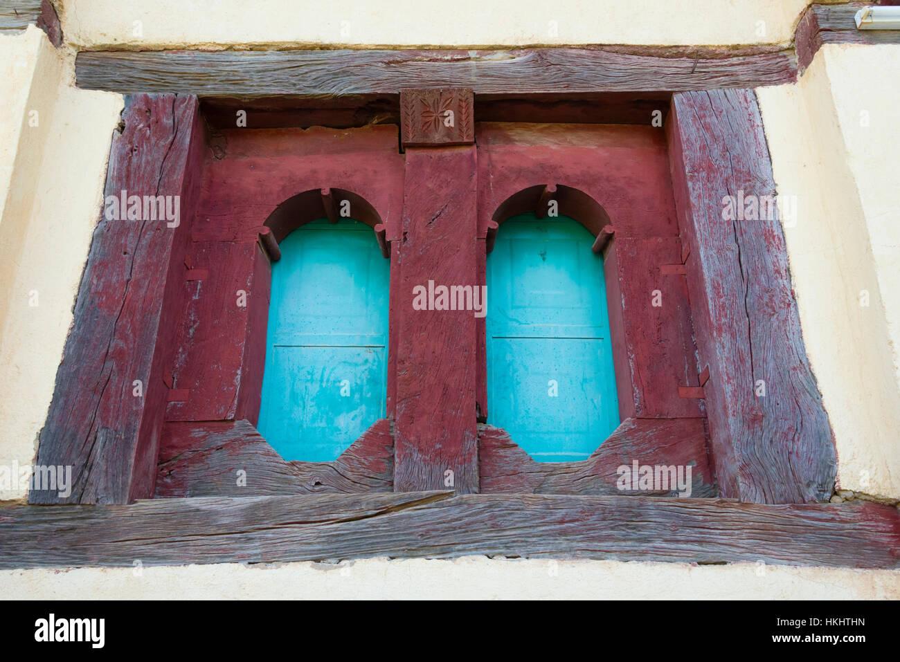 Window of the Great Temple of Yeha, Ethiopia Stock Photo