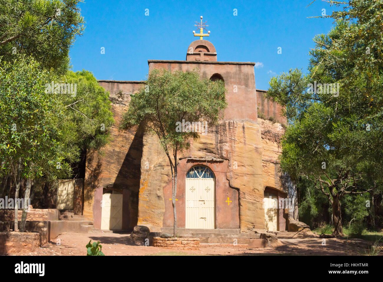Mikael Imba Church, one of the rock-hewn churches of Tigray, Ethiopia - Stock Image