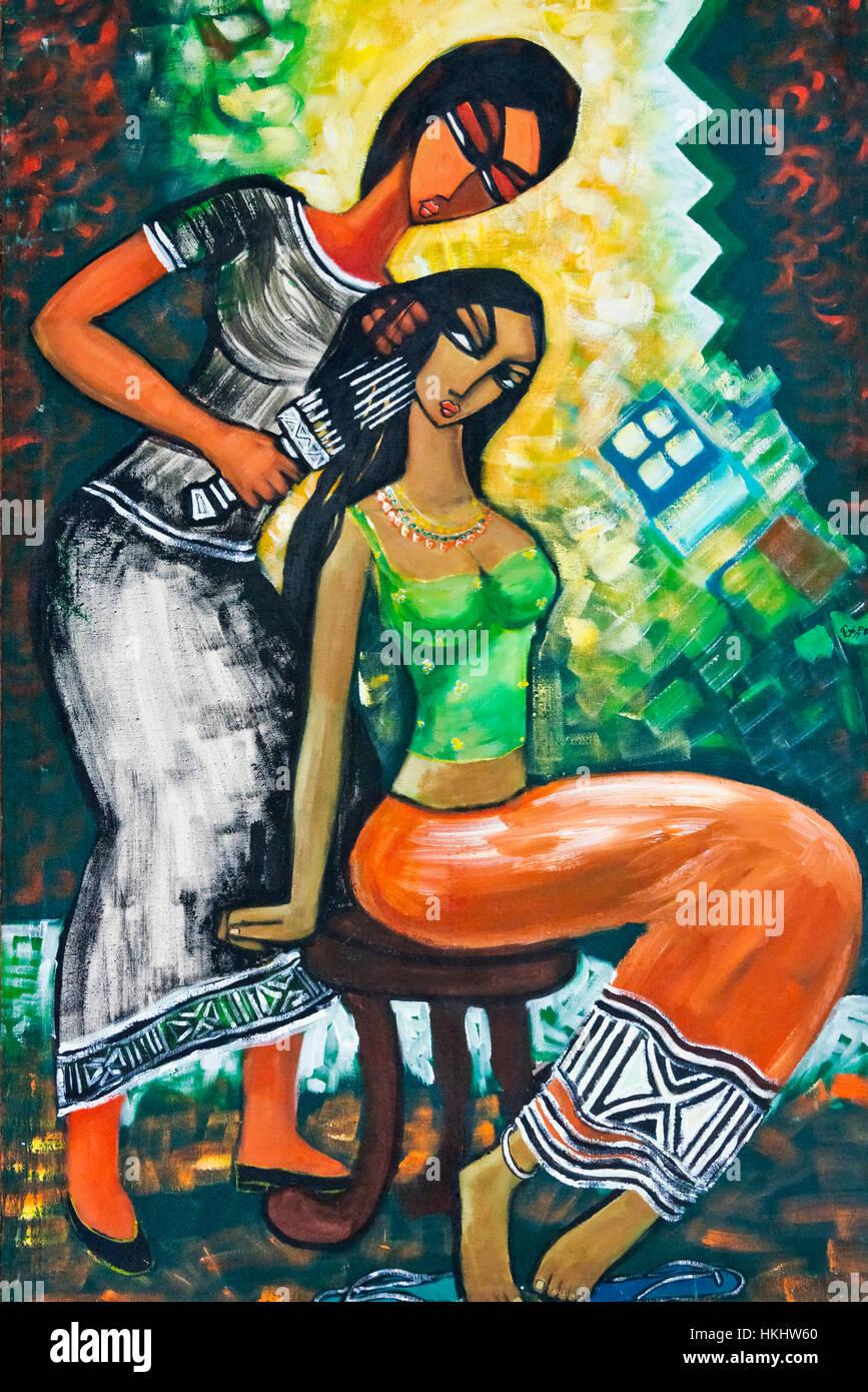 Painting, Lalibela, Ethiopia - Stock Image