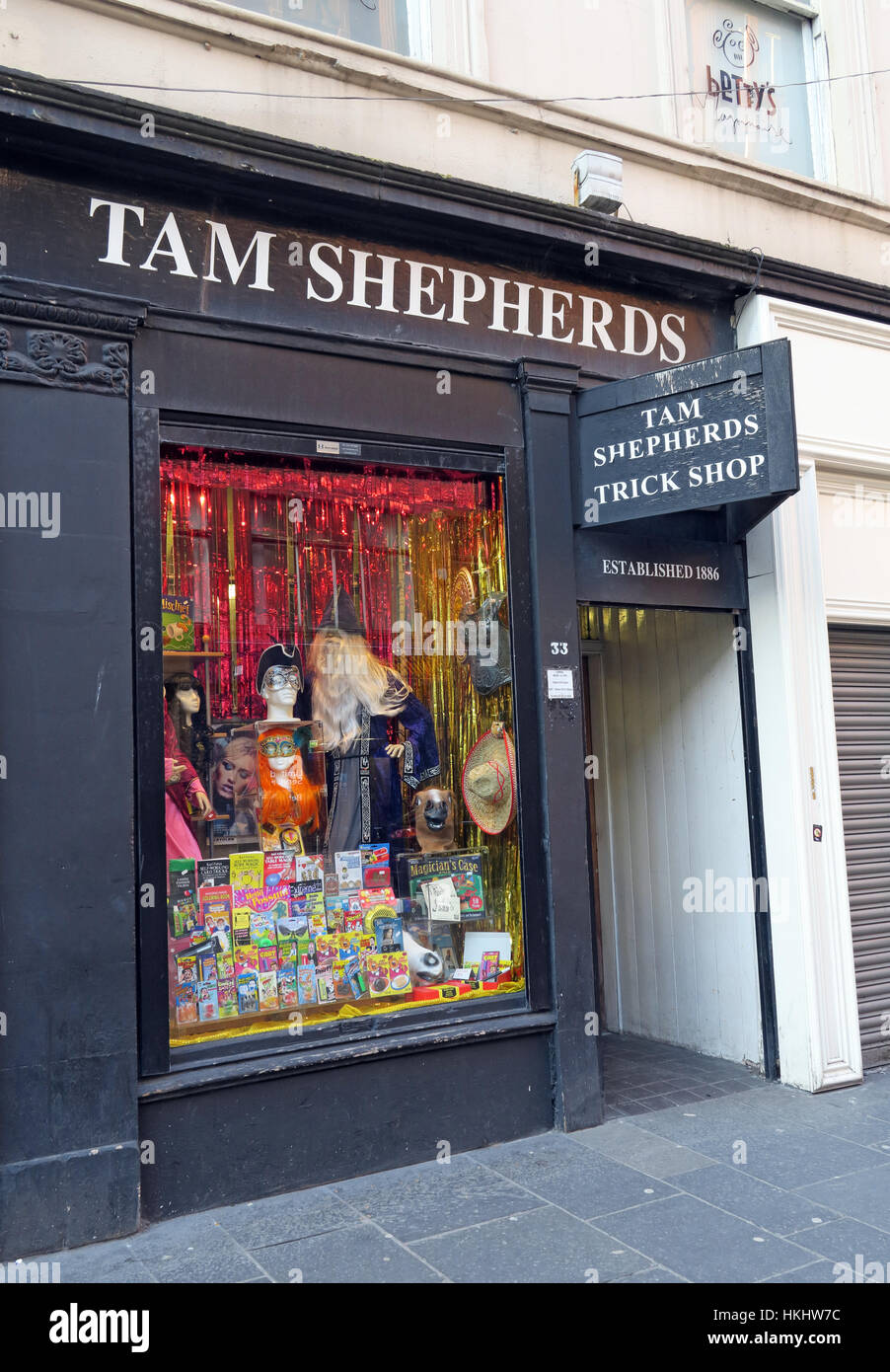 Tam Shephards Glasgow Joke Shop, - Stock Image