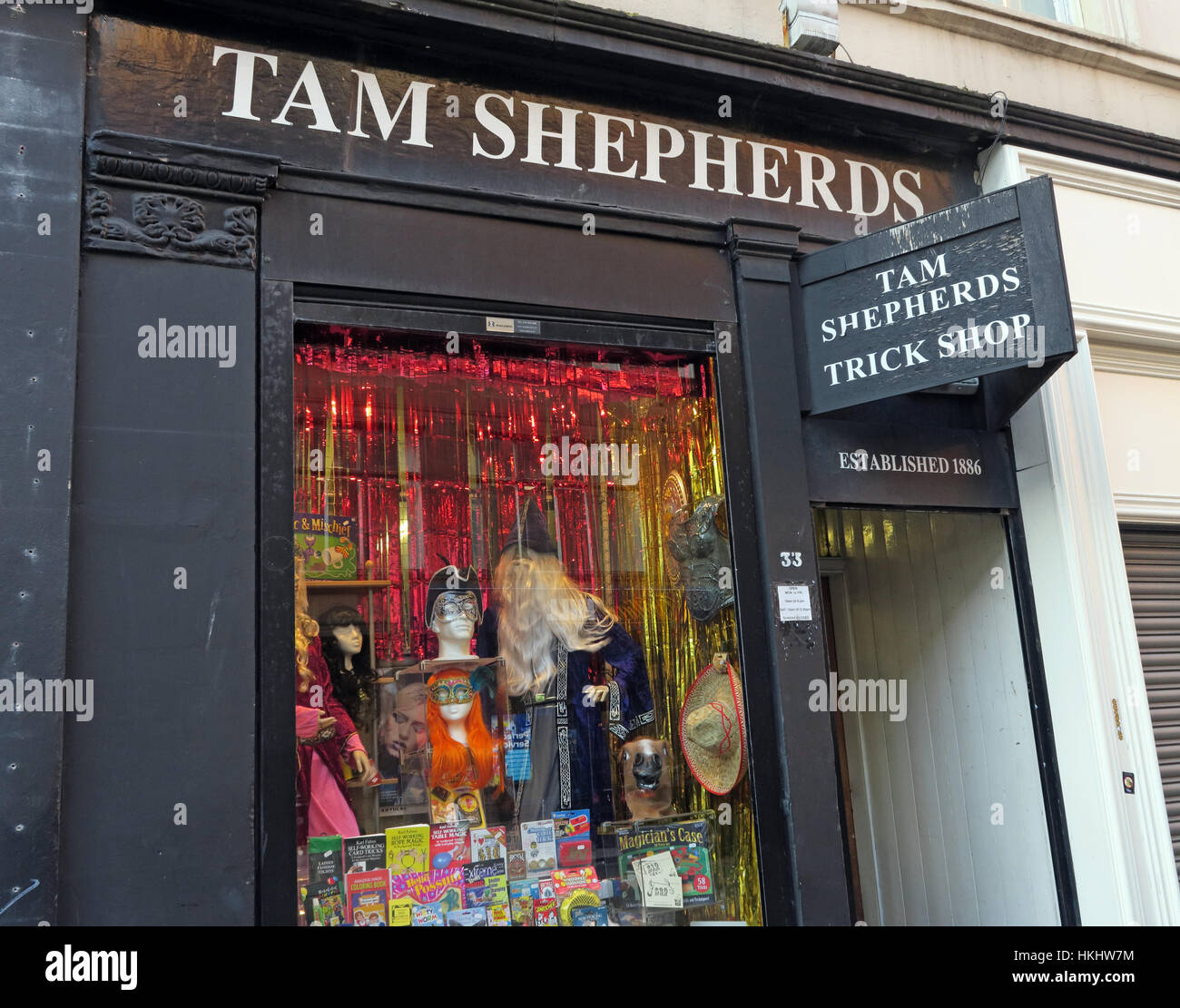 Tam Shepherds Trick Shop,Glasgow City Centre - Stock Image