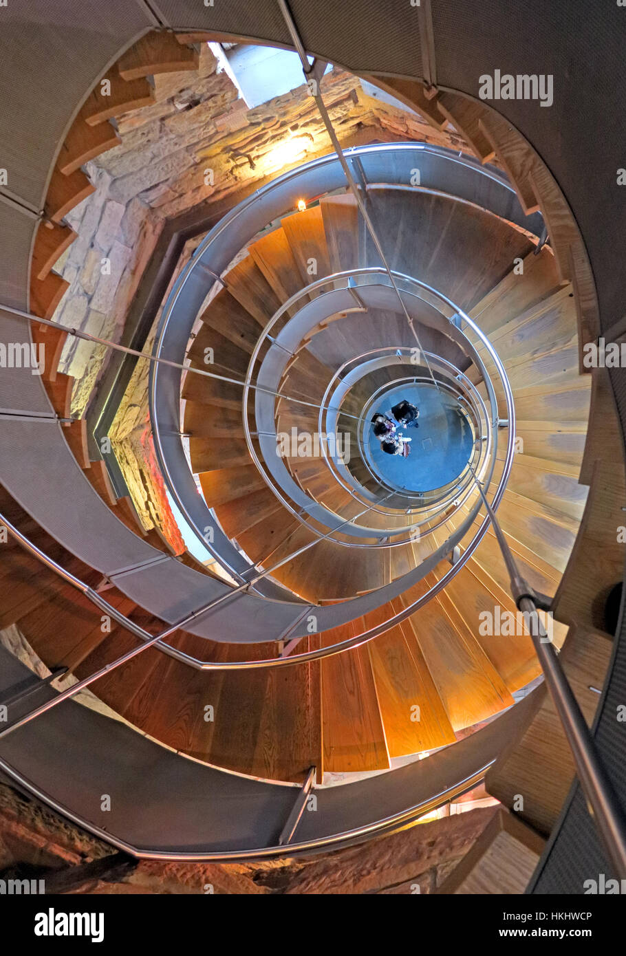 Glasgow Lighthouse Staircase - Stock Image