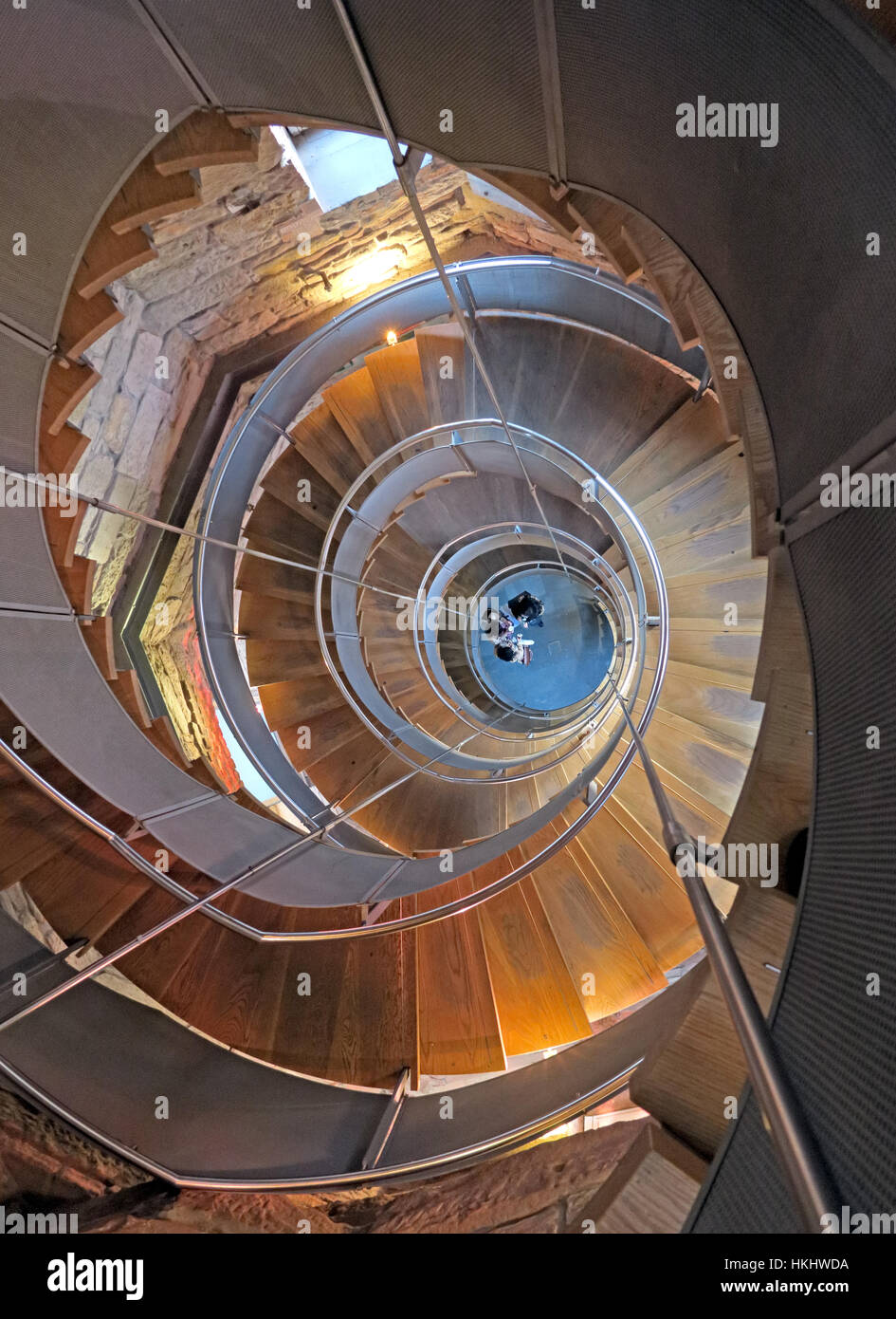 Glasgow Lighthouse Staircase - Stock Image