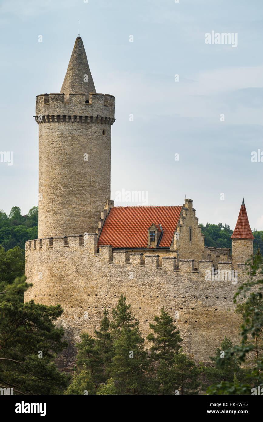 Kokorin Castle in Central Bohemia, Czech Republic, Europe Stock Photo