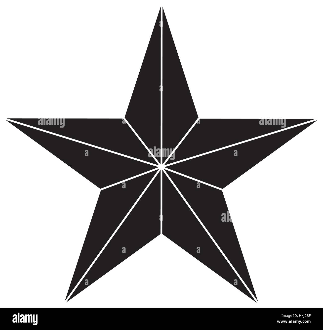 Star showing military authority icon image vector illustration - Stock Vector