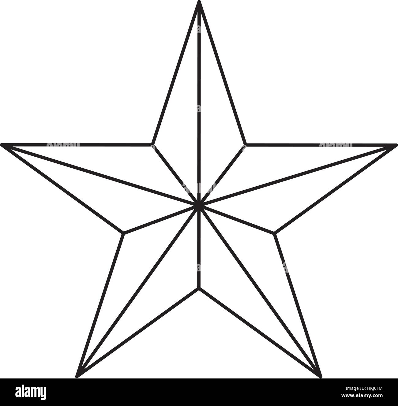 Star figure showing military authority icon image, vector illustration - Stock Vector