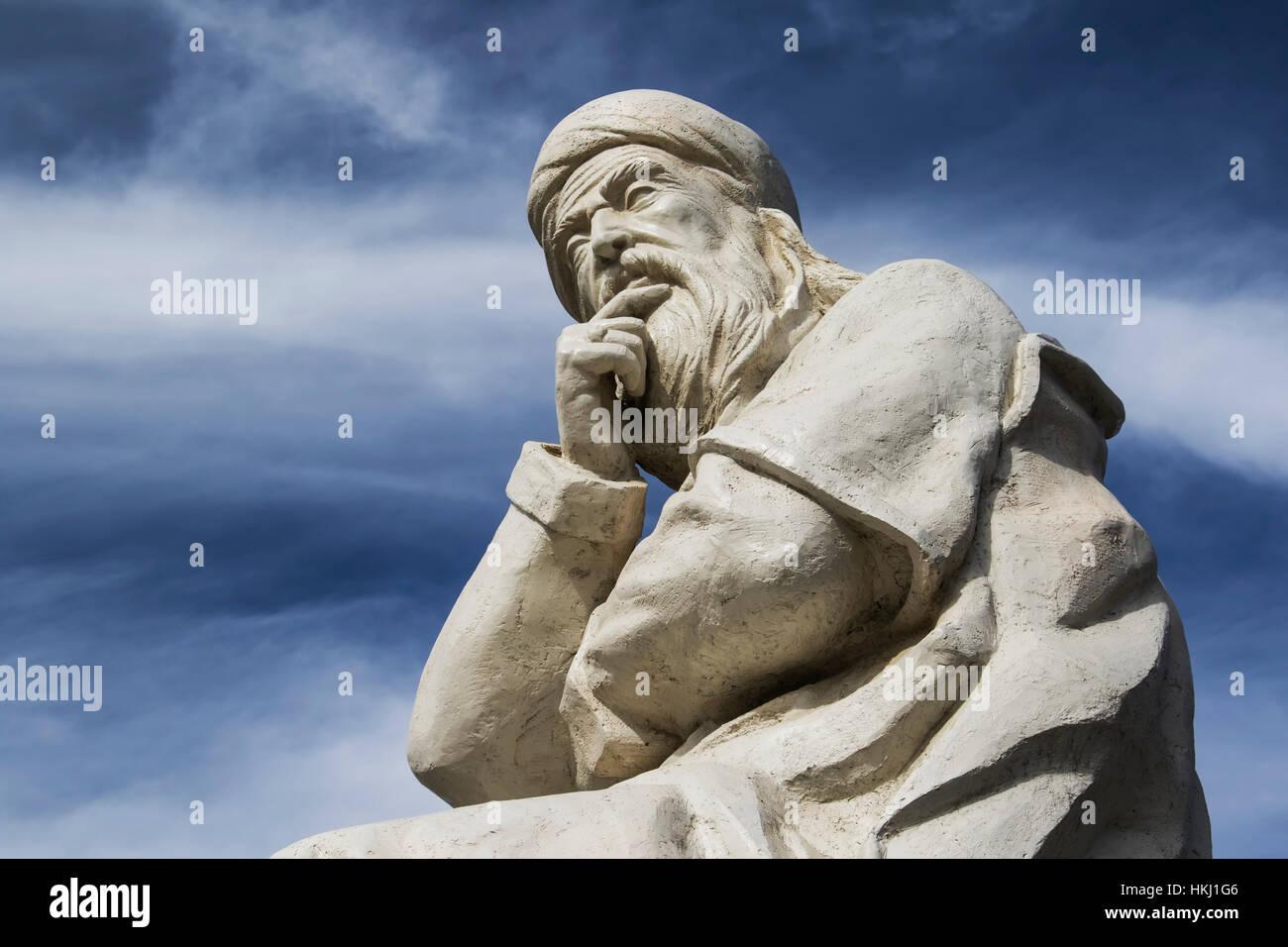 Statue of Sheikh Safi al-din Ardabili; Ardabil, Iran - Stock Image