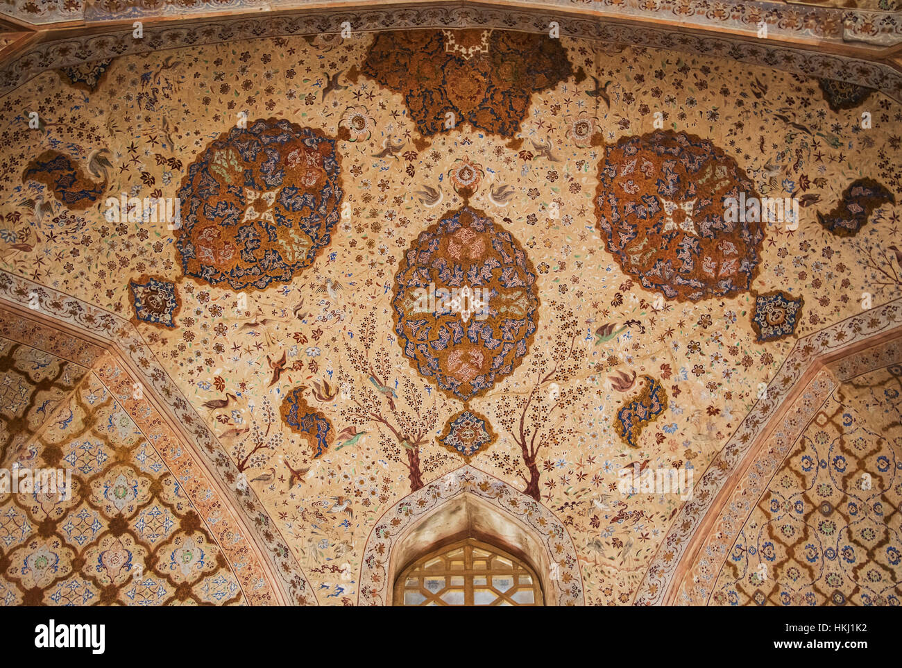 Chini-khana, panel of niches, used for shelving or decoration in the Ali Qapu Palace; Esfahan, Iran Stock Photo