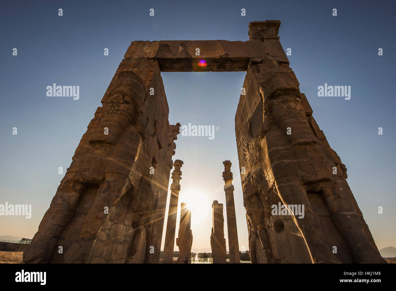 The Gate of All Nations, Persepolis; Fars Province, Iran - Stock Image