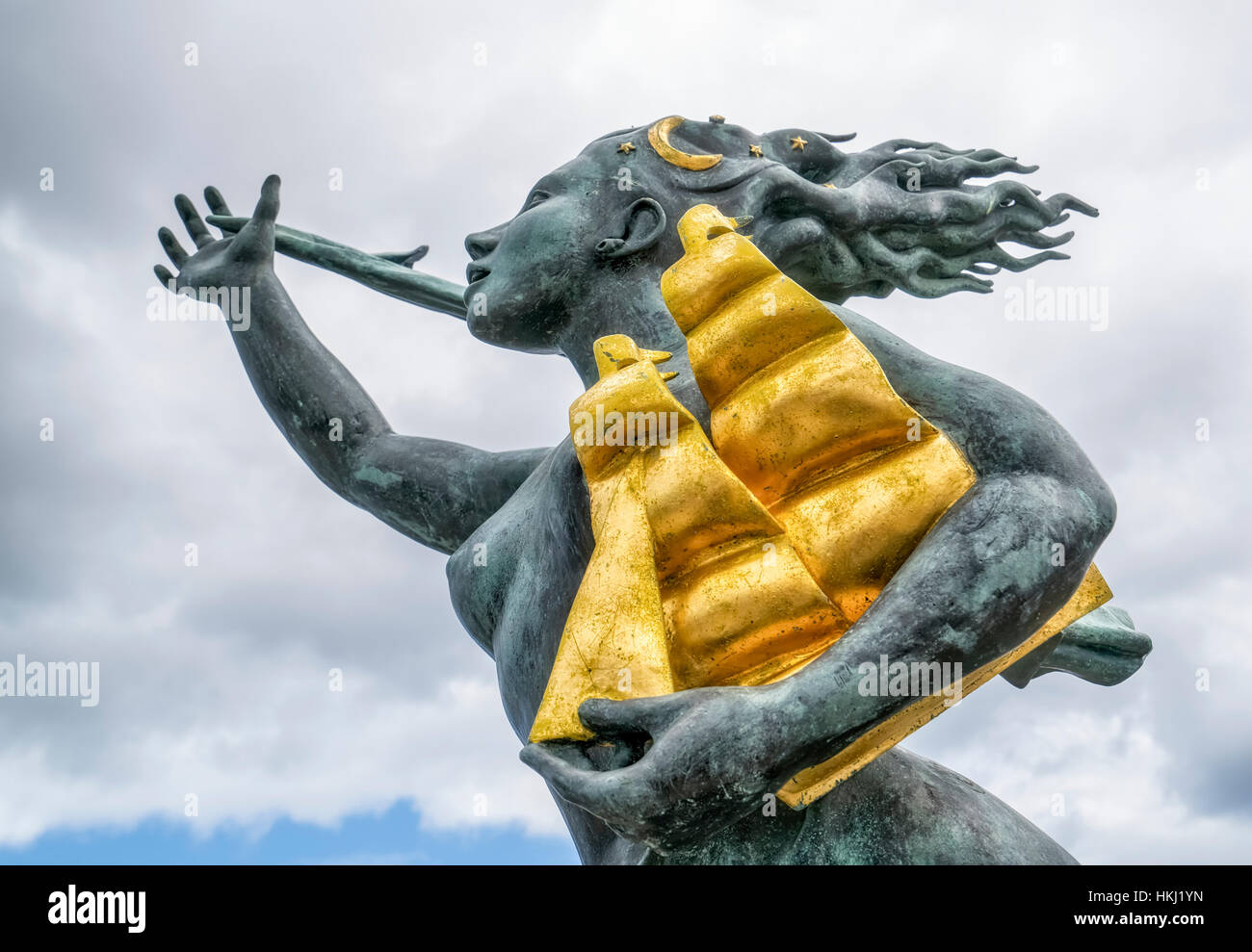 Spirit of South Shields sculpture; South Shields, Tyne and Wear, England Stock Photo
