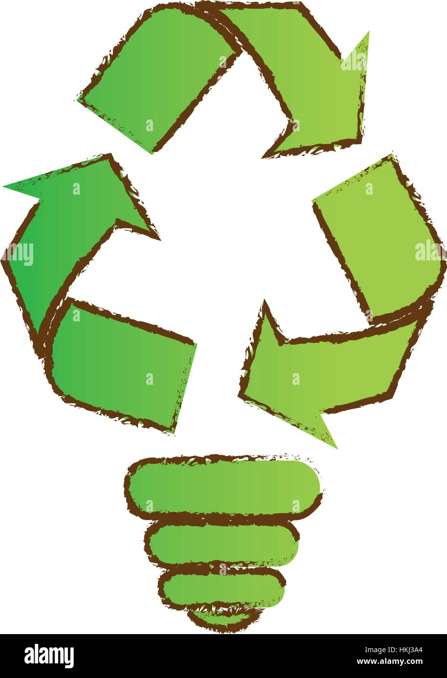 Color bulb environmental care icon image, vector illustration - Stock Image