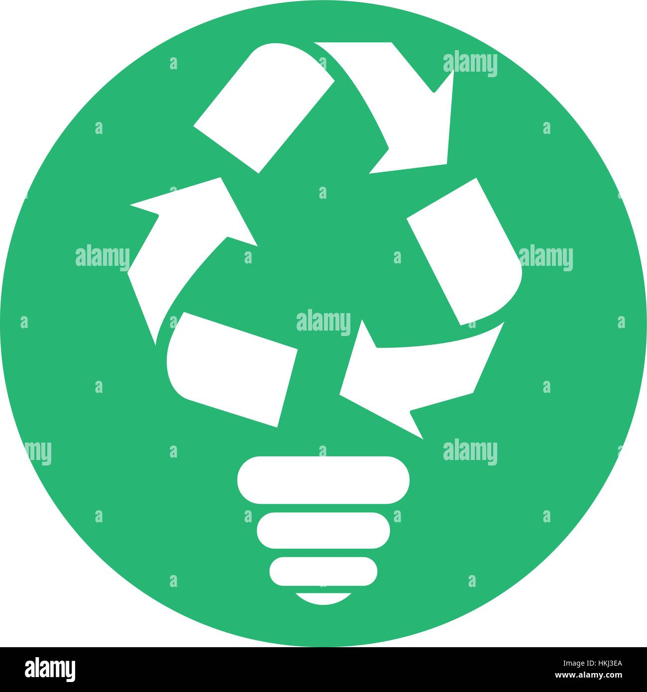 Figure bulb environmental care icon image, vector illustration - Stock Image