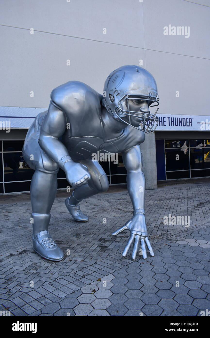 Tampa, Florida - USA - January 07, 2017: Football Playoff sculpture - Stock Image