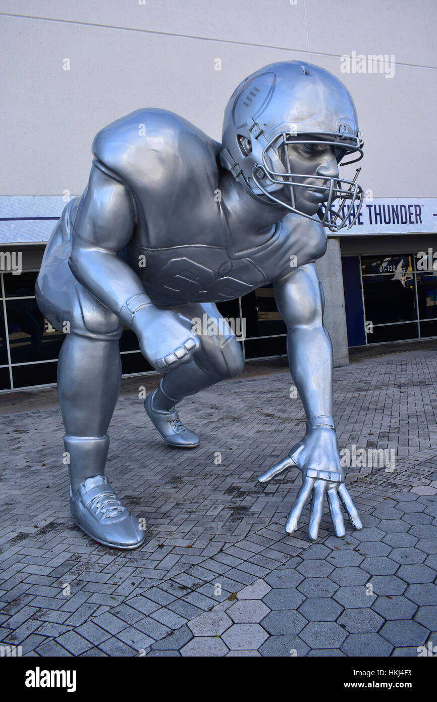 Tampa, Florida - USA - January 07, 2017: Football Playoff sculpture in Tampa - Stock Image
