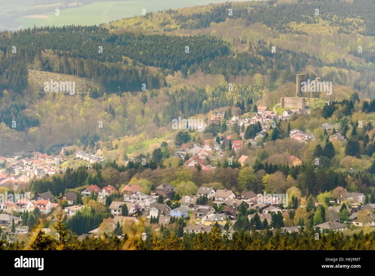 Schmitten (Hochtaunus): town and castle Reifenberg, , Hessen, Hesse, Germany Stock Photo