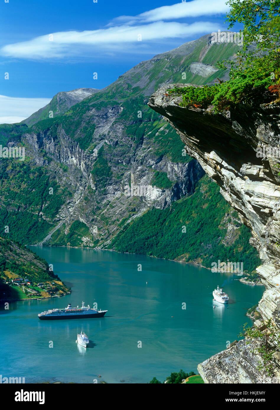 Geirangerfjord, More og Romsdal, Norway - Stock Image