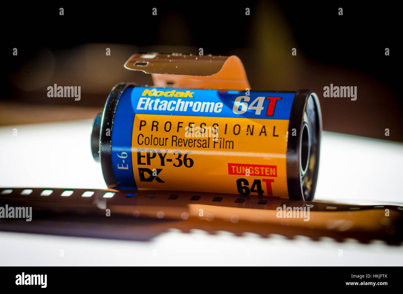 Kodak Ektachrome 35mm Transparency Film - Stock Image