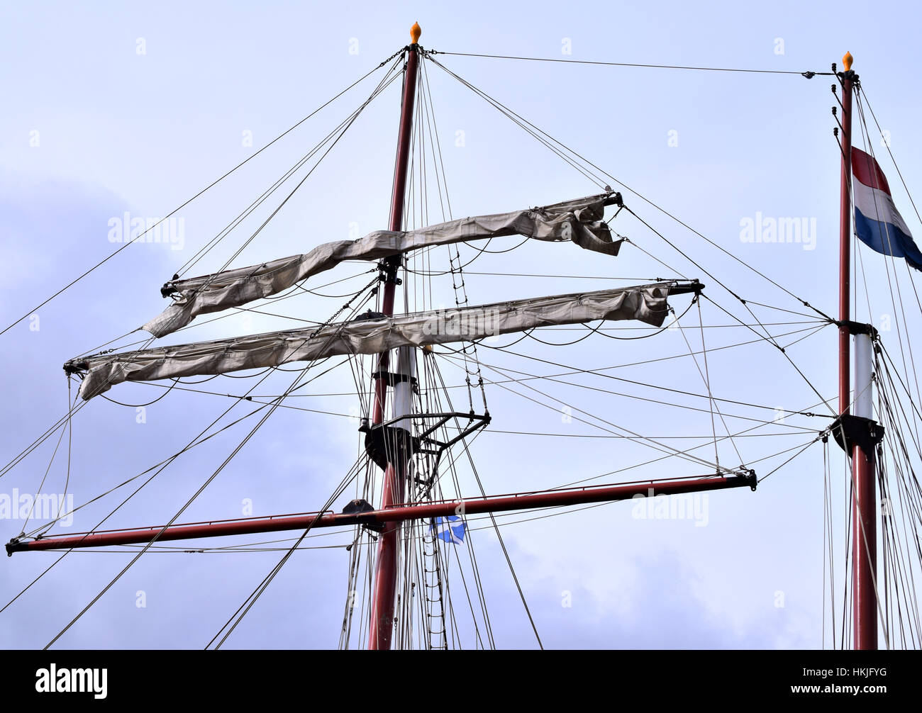Flying Dutchman sail mast - Stock Image