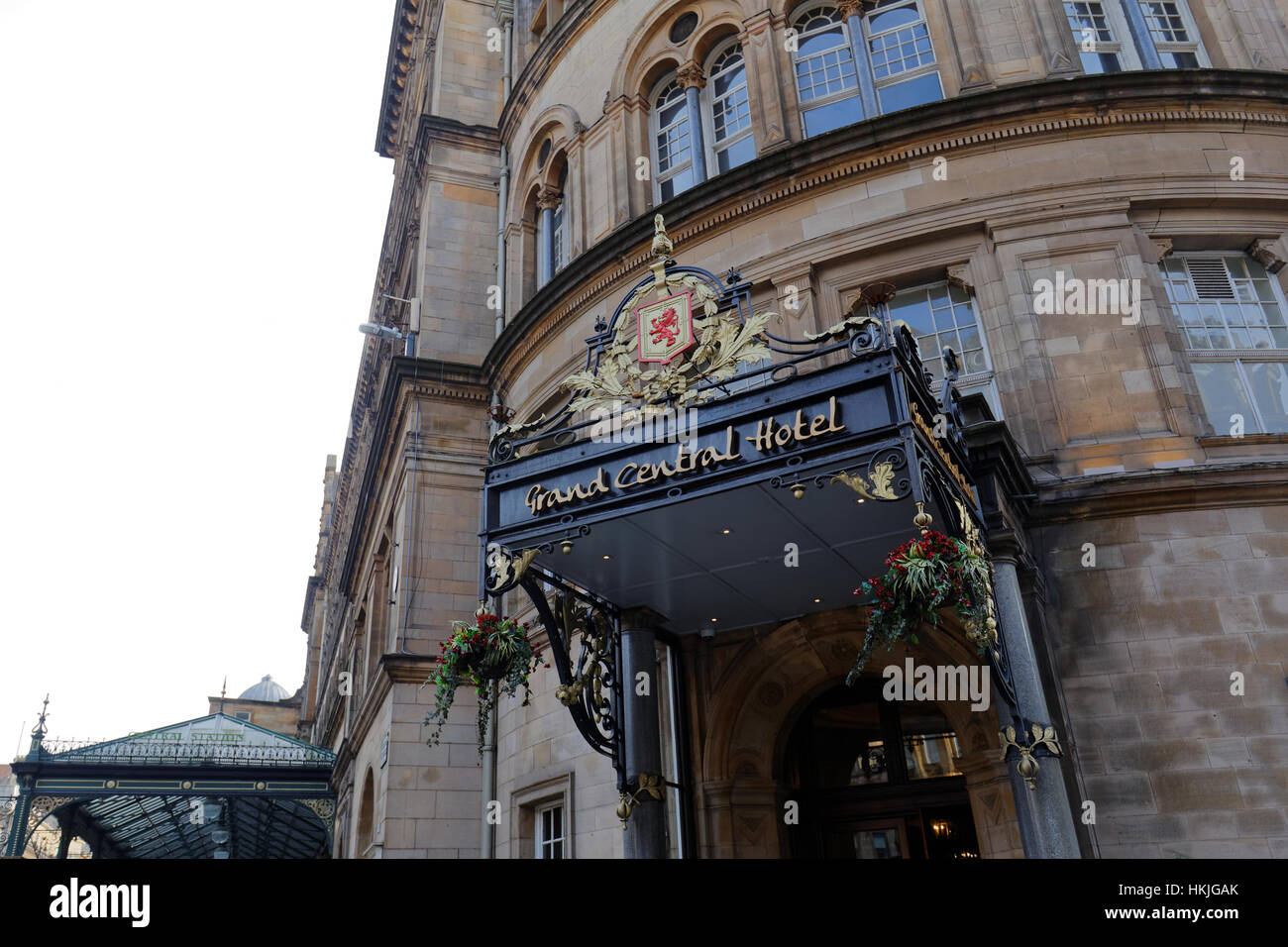 Grand Central Hotel Glasgow station entrance motel - Stock Image