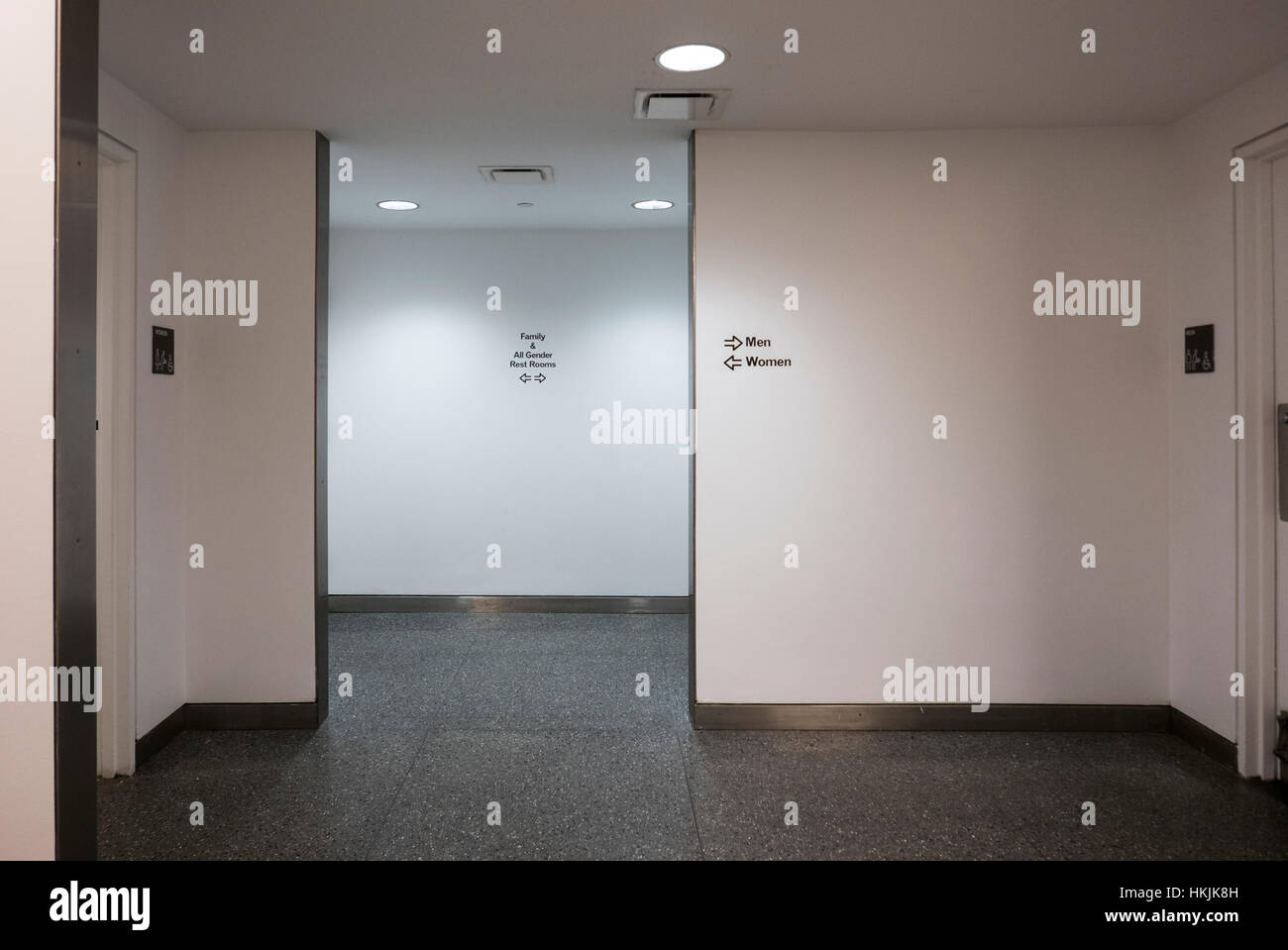 Rest Rooms entrance at the Brooklyn Museum, Brooklyn, NY - Stock Image