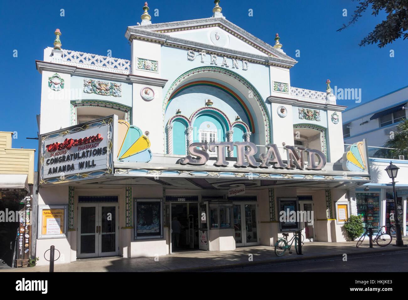 USA, Florida, Key West, Strand theater - Stock Image