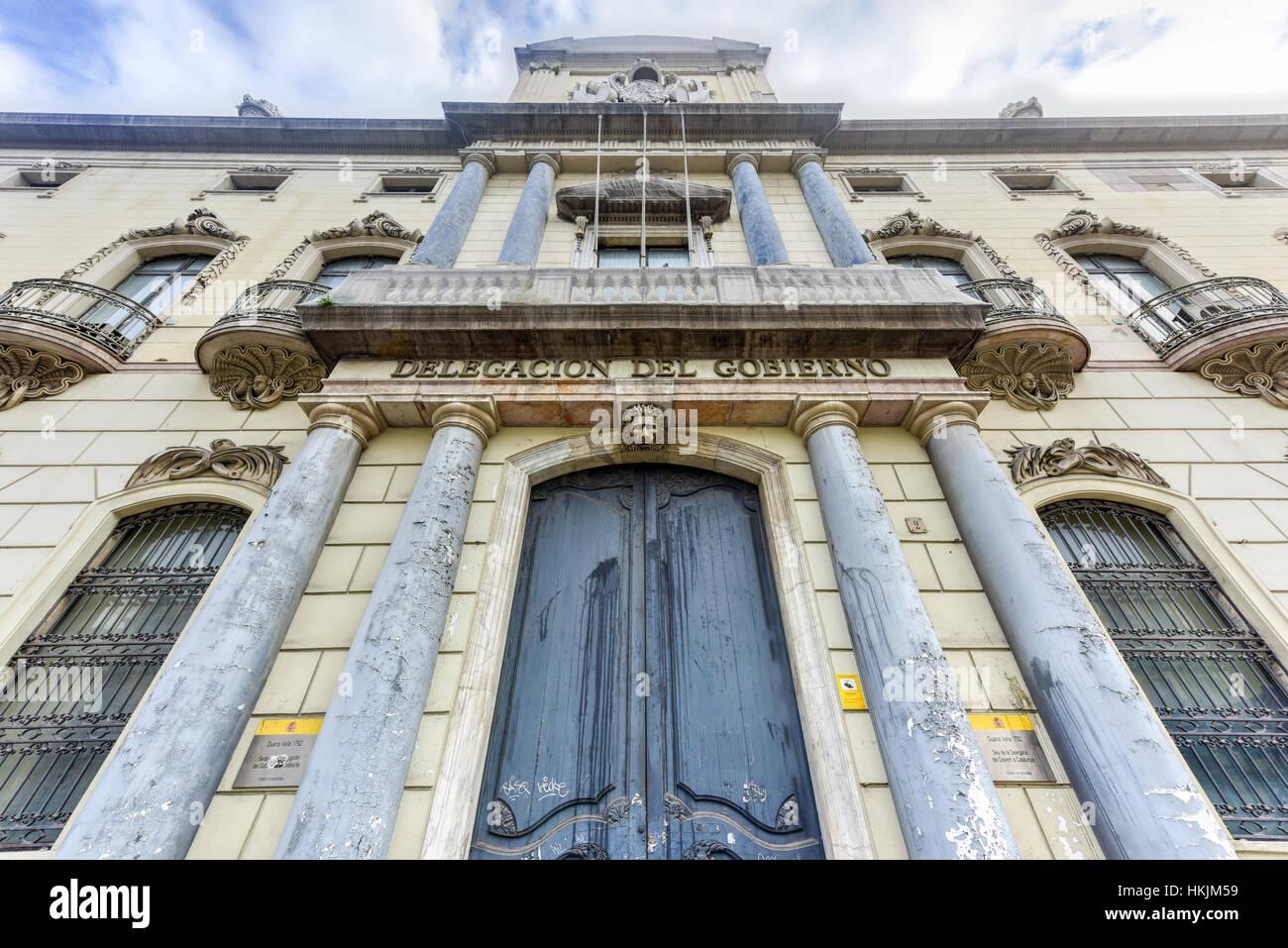 The Delegation of the Spanish Government (delegacion del Gobierno) building, Marques De L'argentera Avenue, - Stock Image