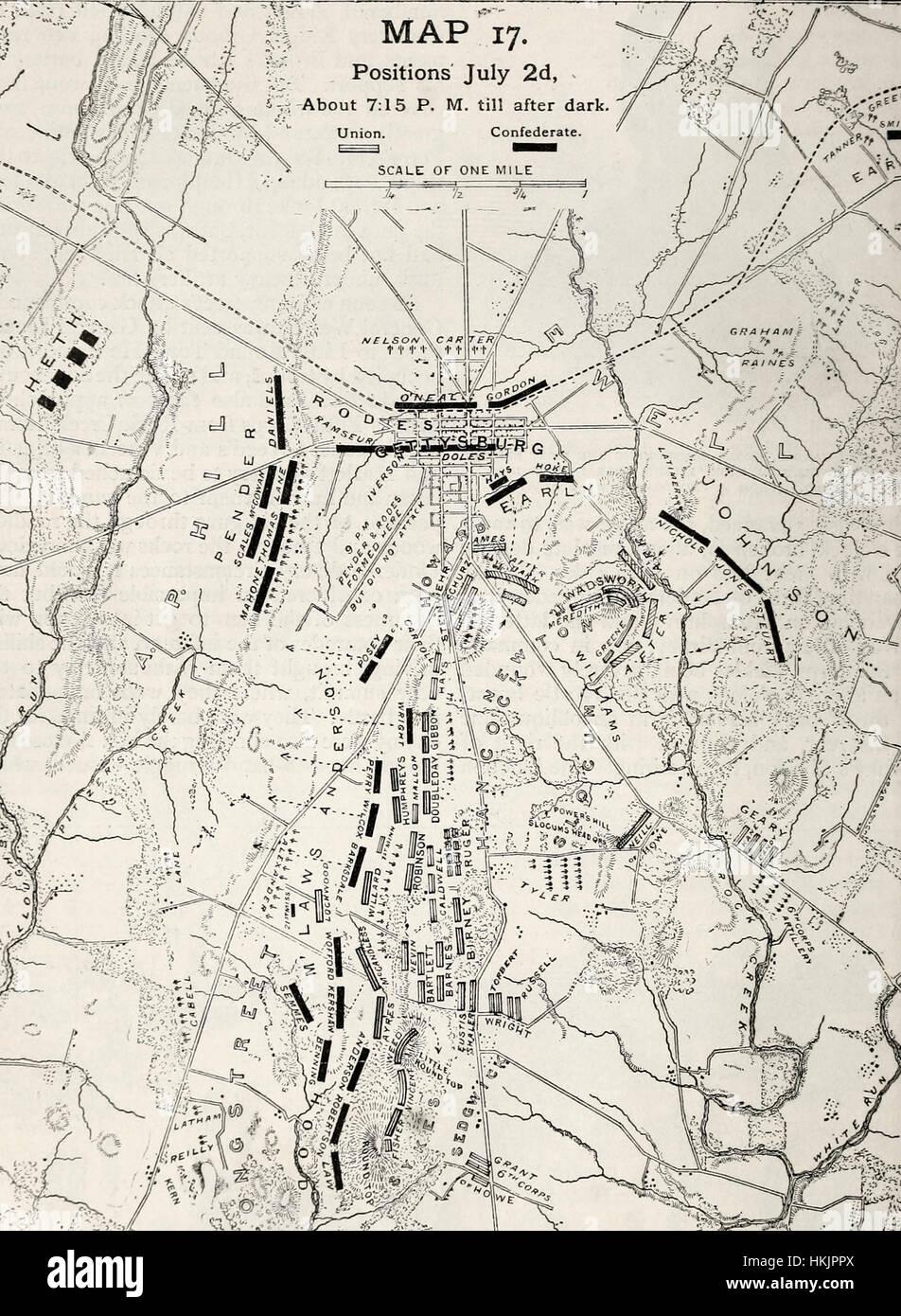 Battle Gettysburg Pennsylvania July 1863 Stock Photos Battle