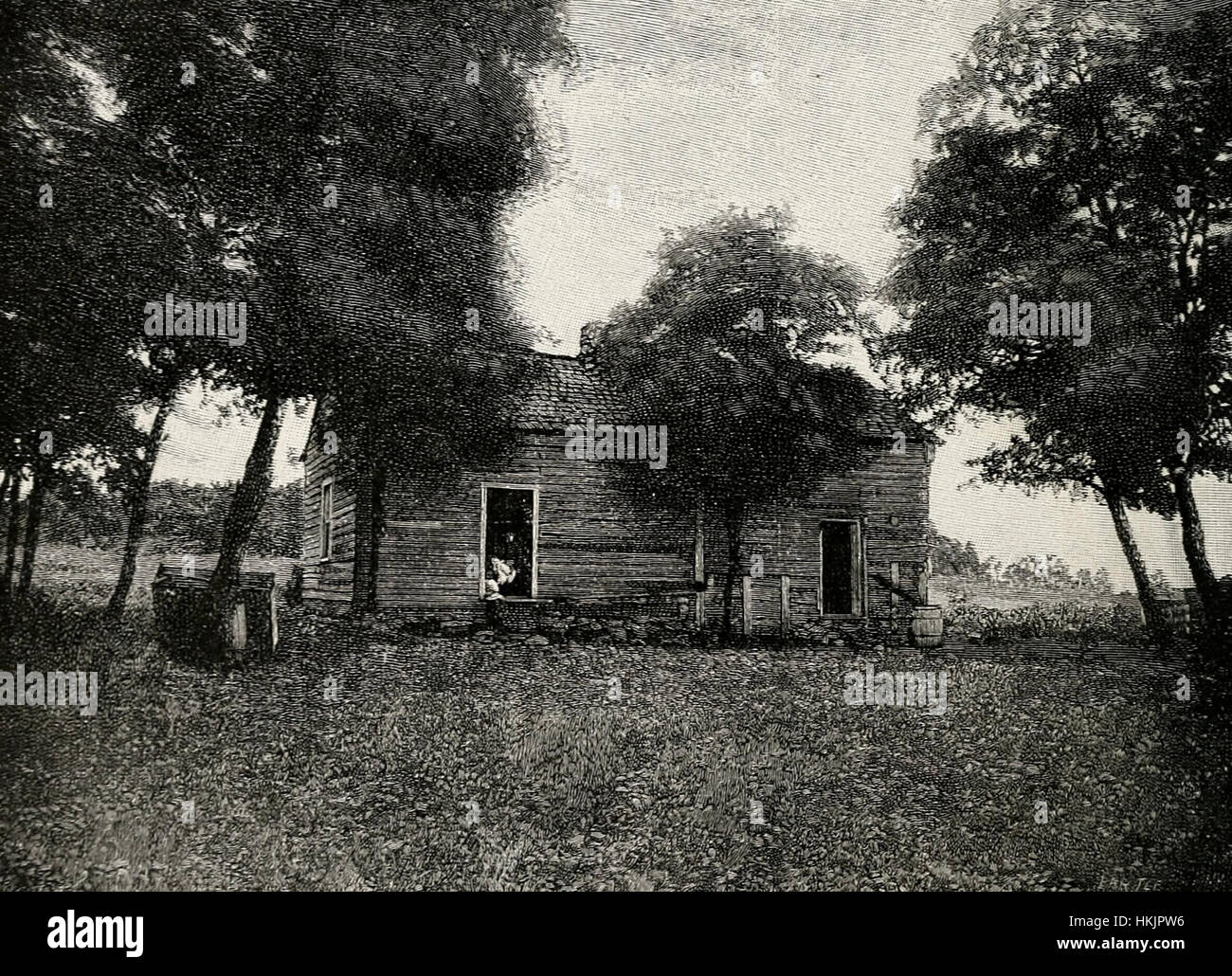 House near Beechland, Kentucky, in which Thomas Lincoln and Nancy Hanks were married June 12, 1806 - Stock Image