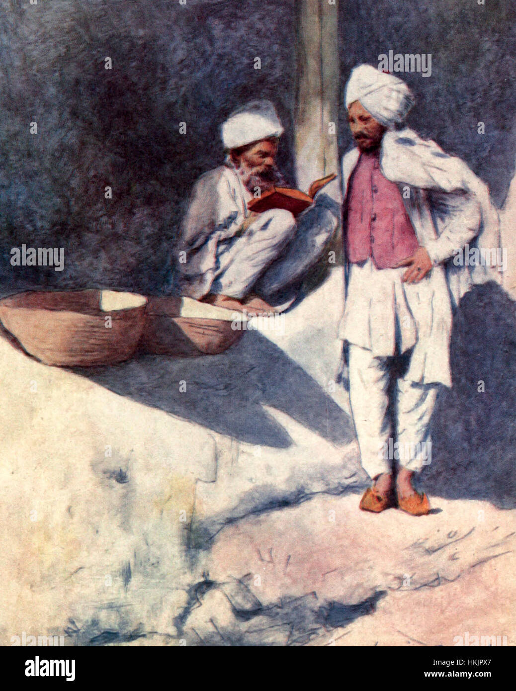 The Village Poet, India, circa 1912 - Stock Image