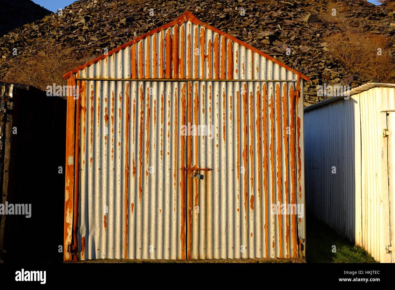 corrugated-iron shed - Stock Image