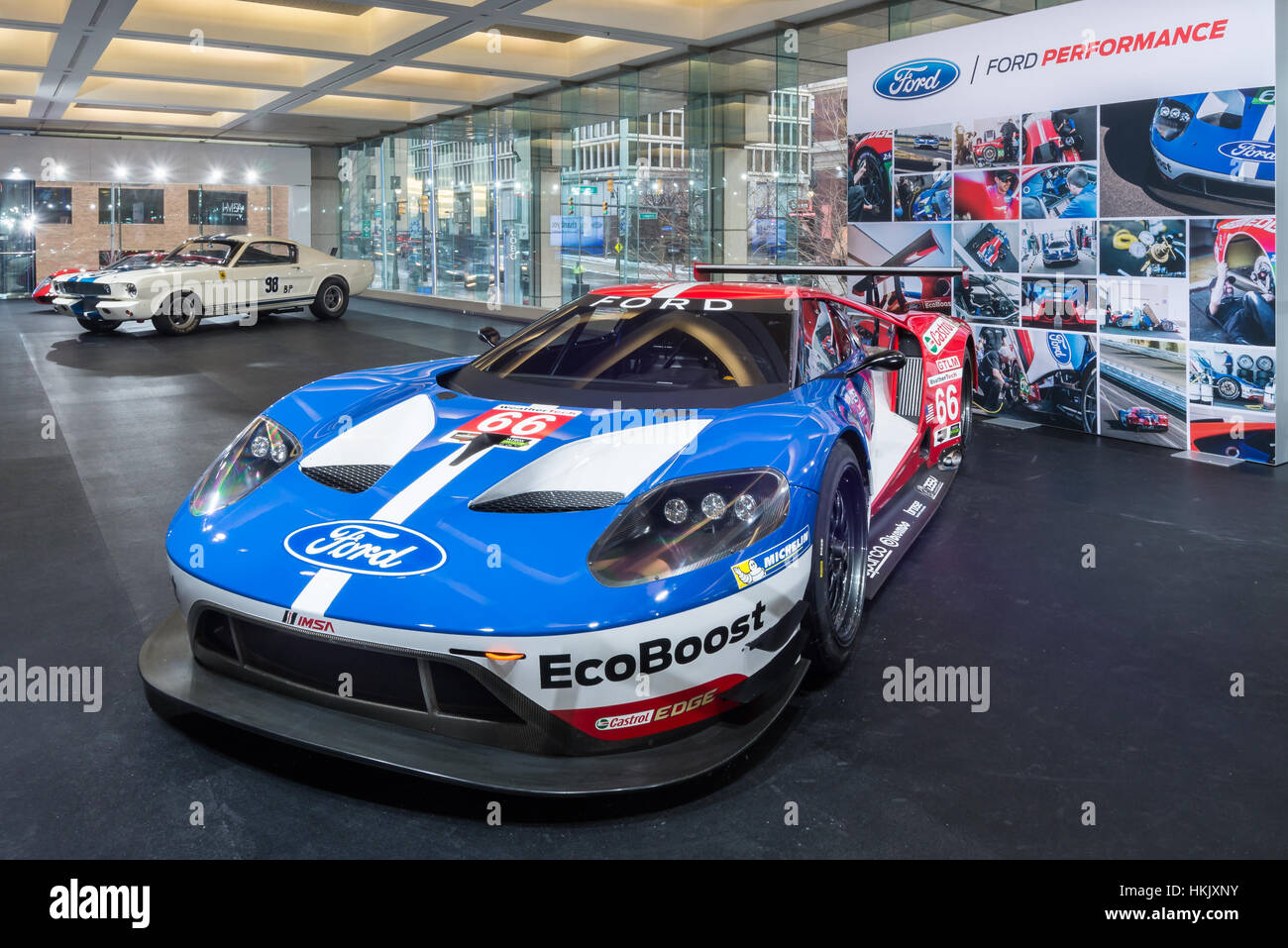 Detroit Mi Usa January   Ford Gt  Chip Ganassi Racing Imsa Racecar At The North American International Auto Show Naias