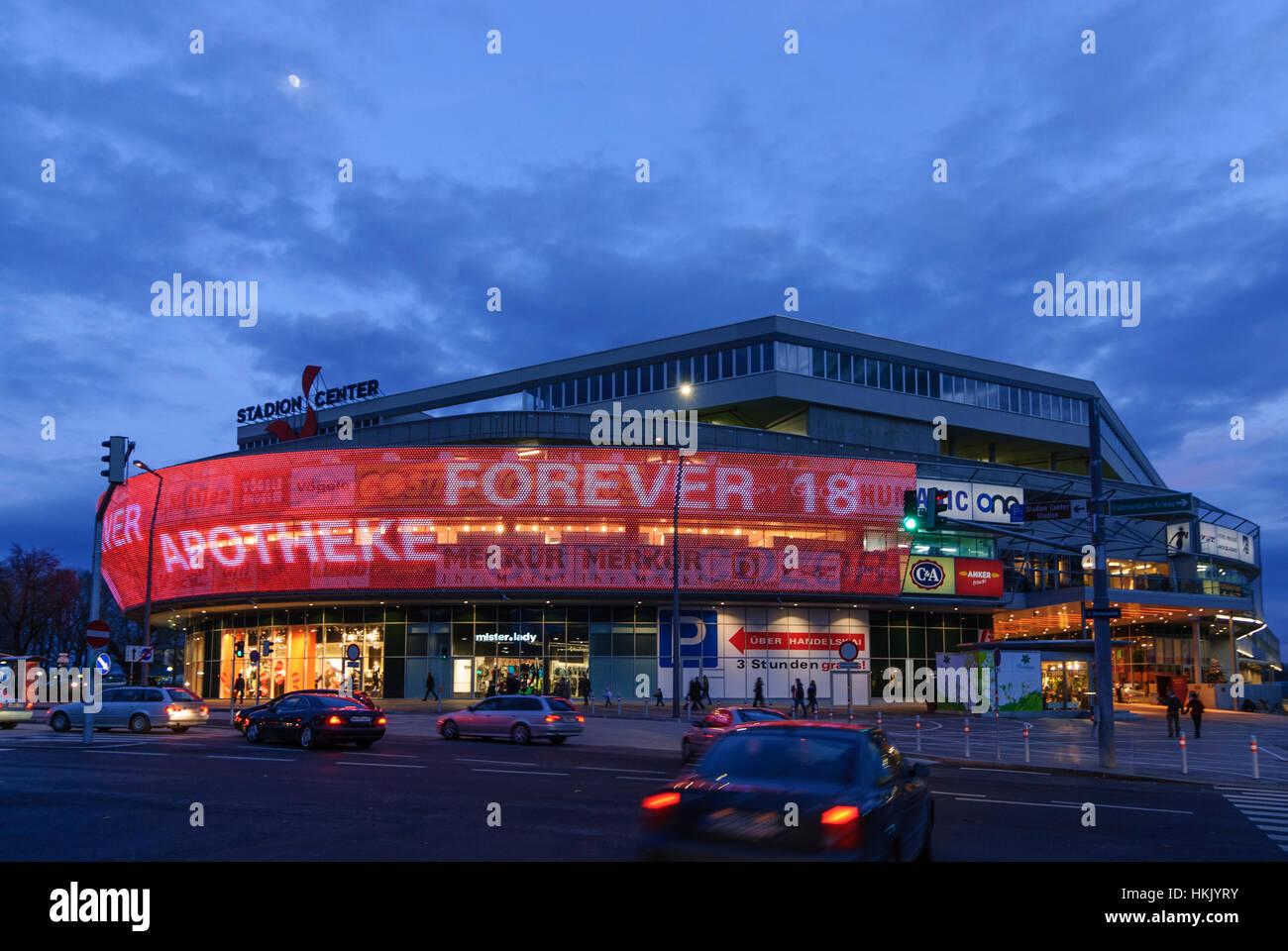 Wien, Vienna: shopping mall Stadion Center, 02., Wien, Austria - Stock Image