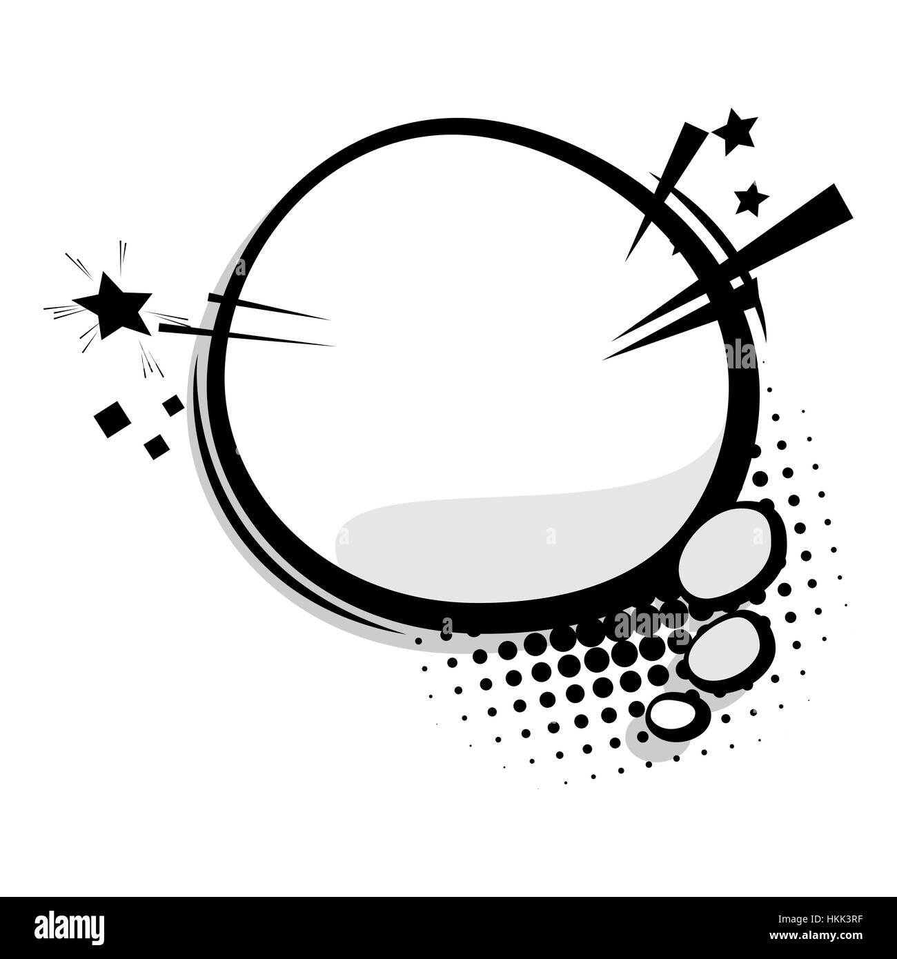 Blank template comic speech balloon Stock Vector Art & Illustration ...