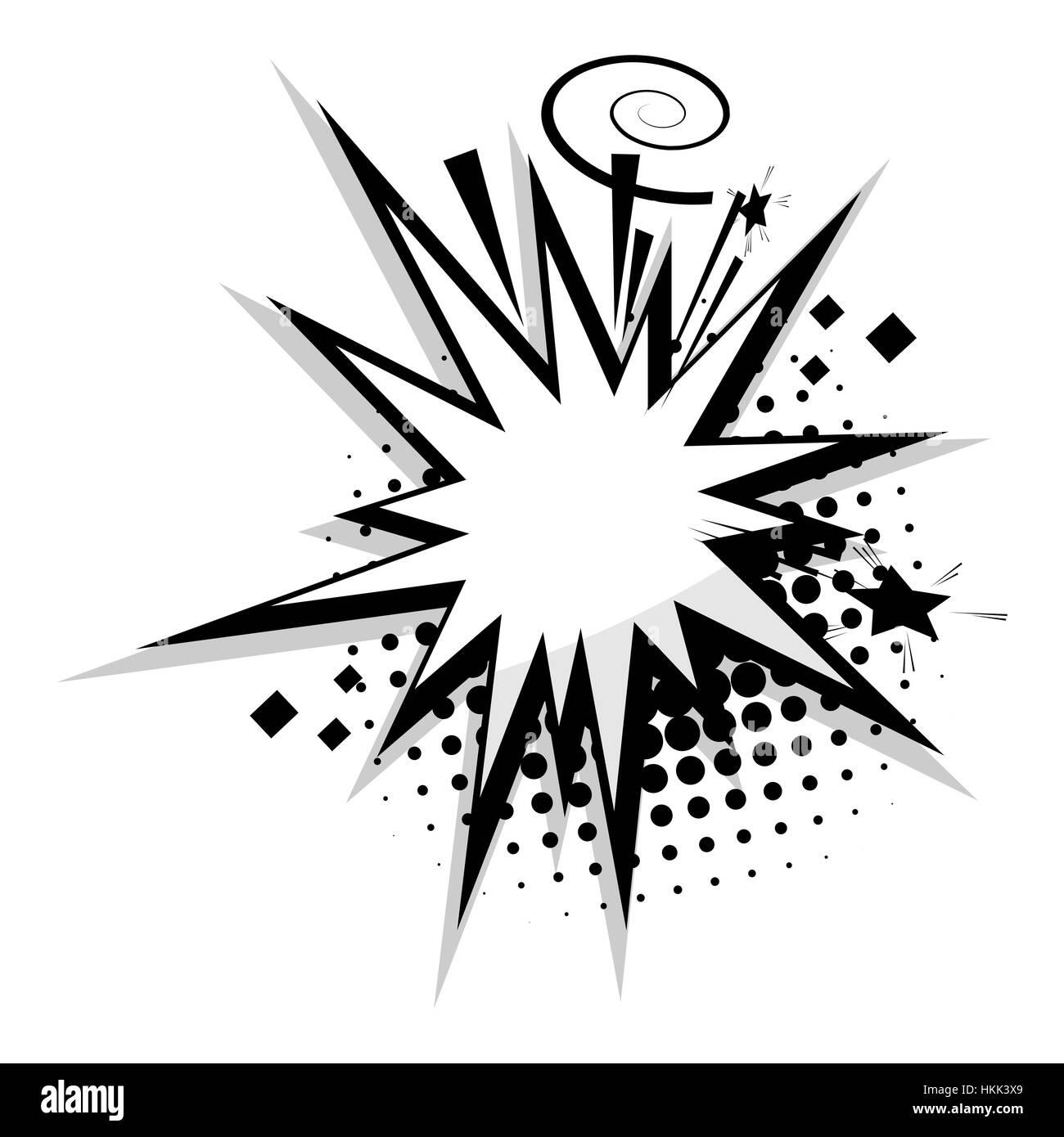 Blank Template Comic Speech Bubble Star Stock Vector Art