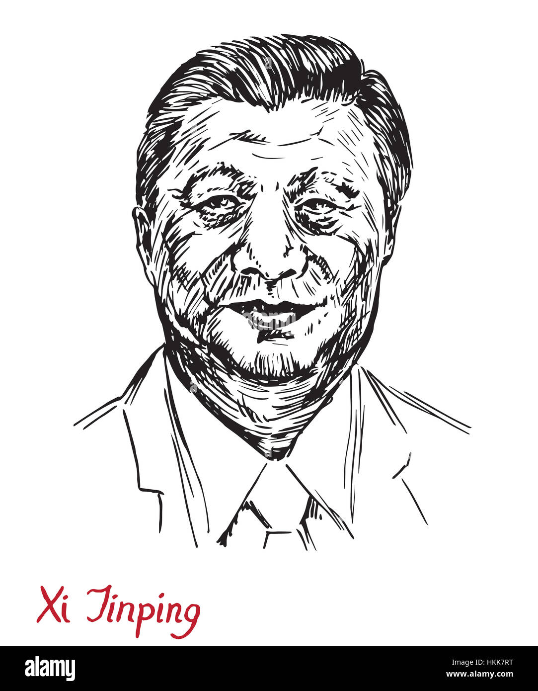 Xi Jinping, General Secretary of the Communist Party of China, President of the People's Republic of China, - Stock Image