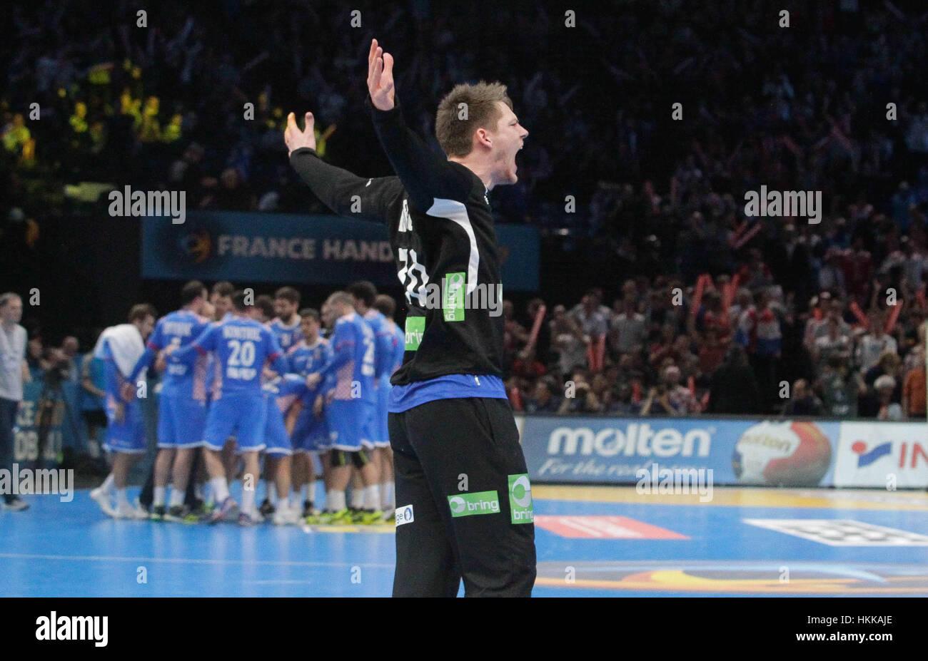 Paris, Franc. 27th Jan, 2017.  Paris, France, IHF World handball Championships; Croatie versus Norway Torbjorn S.Bergerud - Stock Image